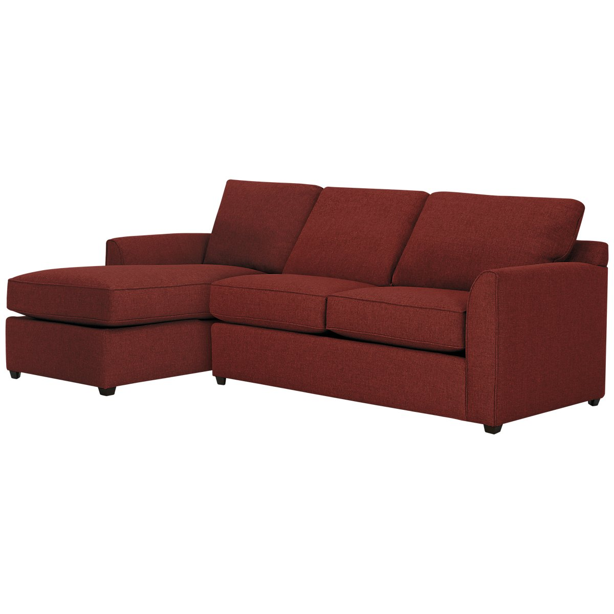 Asheville Red Fabric Left Chaise Sectional