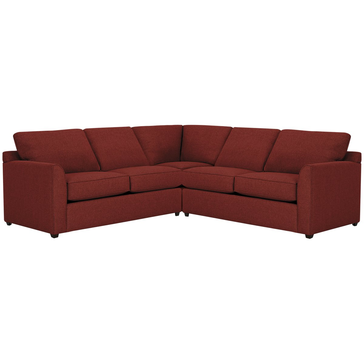Asheville Red Fabric Small Two-Arm Sectional