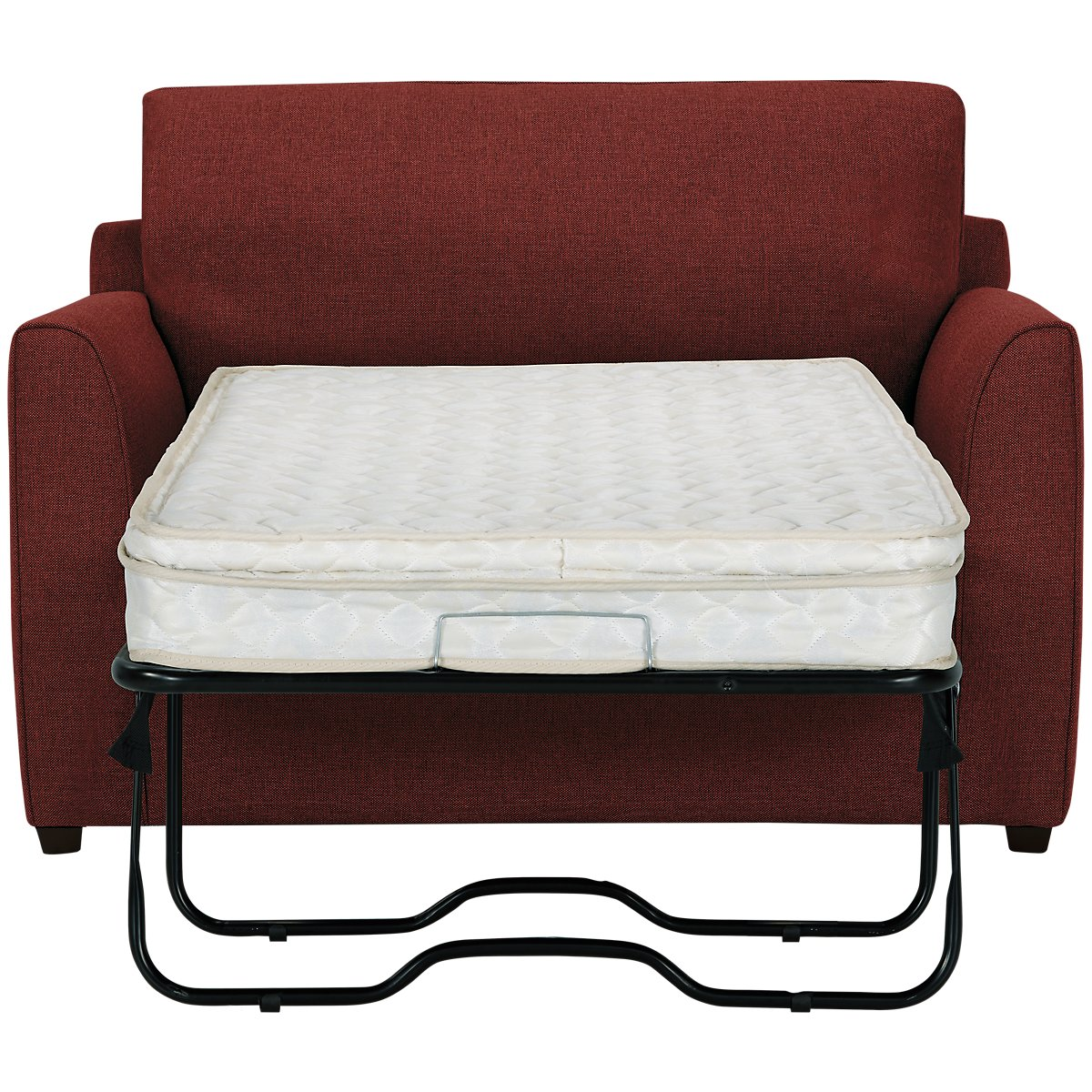 Asheville Red Fabric Innerspring Sleeper