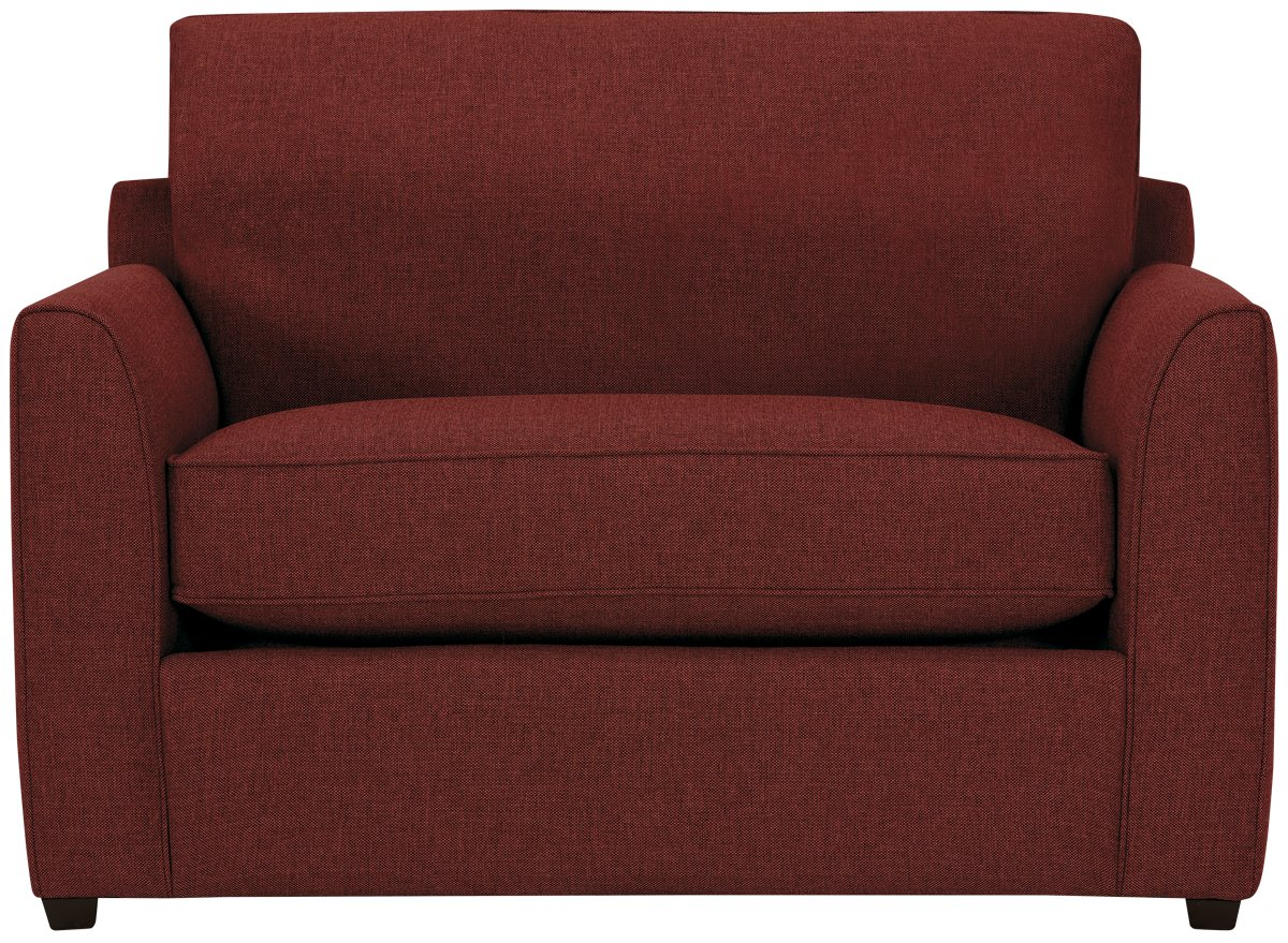 City Furniture Asheville Red Fabric Memory Foam Sleeper