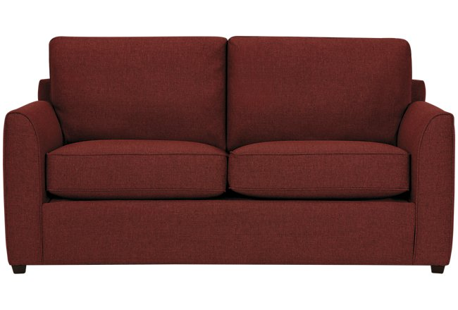 Asheville Red Fabric Innerspring Sleeper
