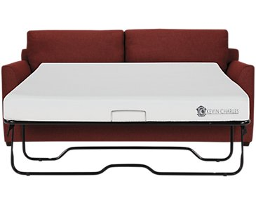 Asheville Red Fabric Memory Foam Sleeper