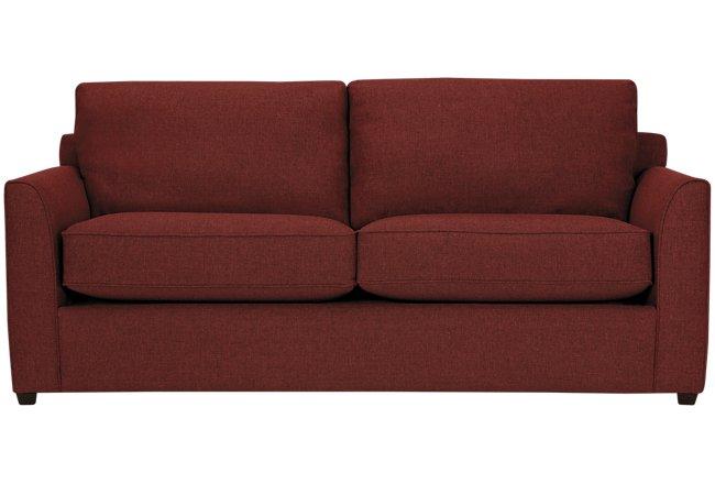 Asheville Red Fabric Memory Foam Sleeper
