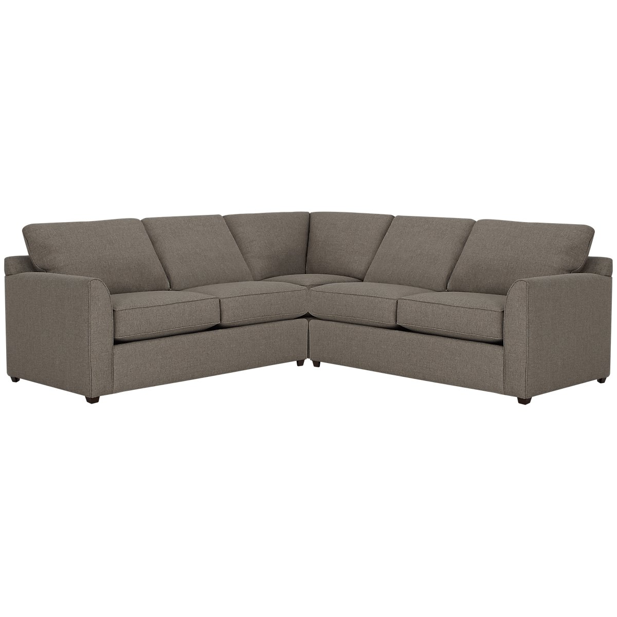 Asheville Brown Fabric Small Two-Arm Sectional