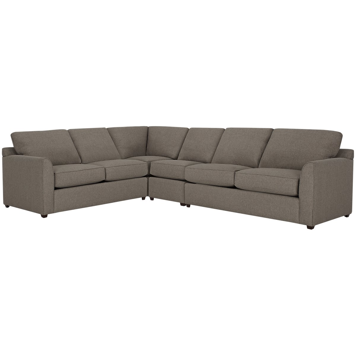 Asheville Brown Fabric Large Two-Arm Sectional