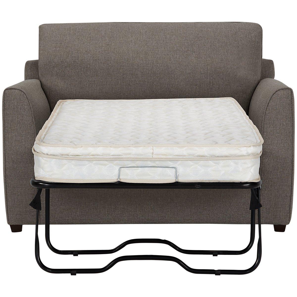 Asheville Brown Fabric Innerspring Sleeper