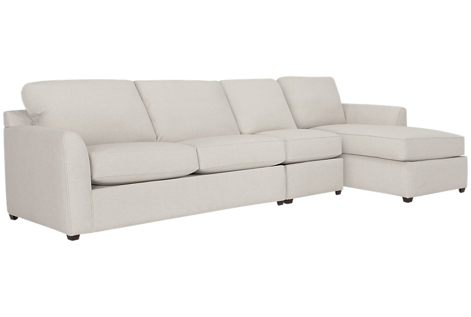 Super Asheville Light Taupe Fabric Small Right Chaise Sectional Beatyapartments Chair Design Images Beatyapartmentscom