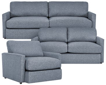 Noah Dark Gray Fabric Living Room