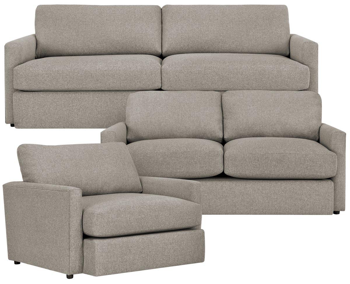 Noah Khaki Fabric Living Room