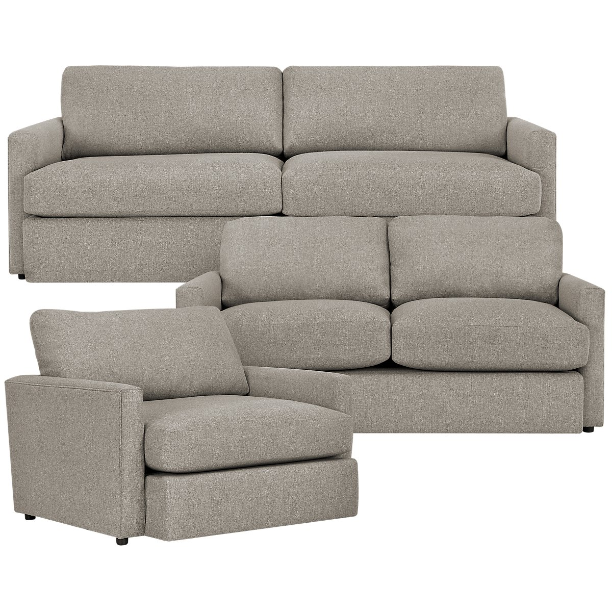 Noah Khaki Fabric Living Room