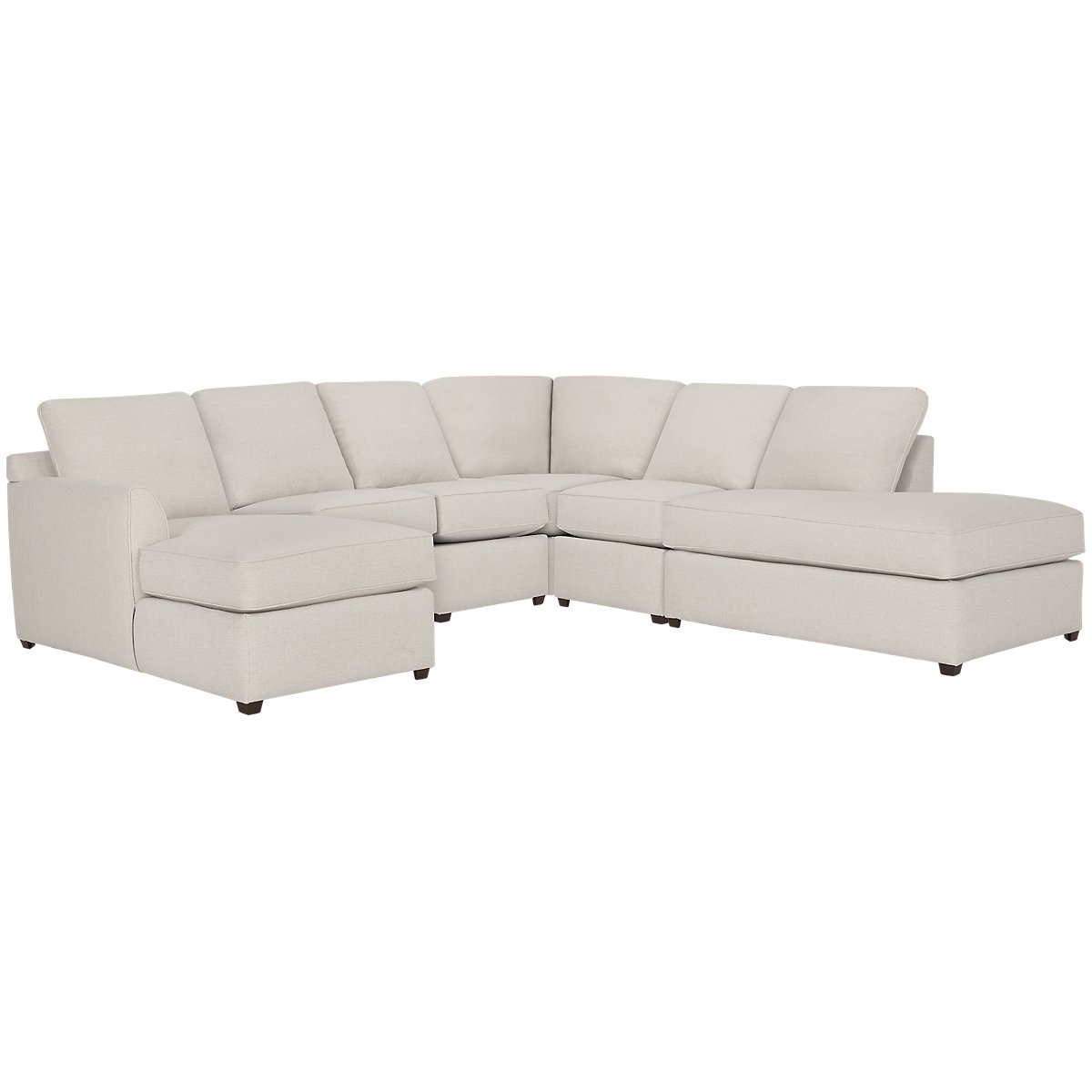 Asheville Light Taupe Fabric Large Right Bumper Sectional
