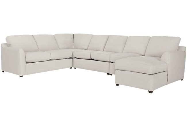 Asheville Light Taupe Fabric Right Chaise Innerspring Sleeper Sectional