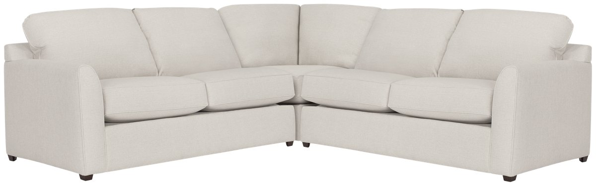 Asheville Light Taupe Fabric Two-Arm Right Memory Foam Sleeper Sectional