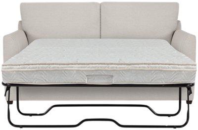 asheville light taupe fabric innerspring sleeper