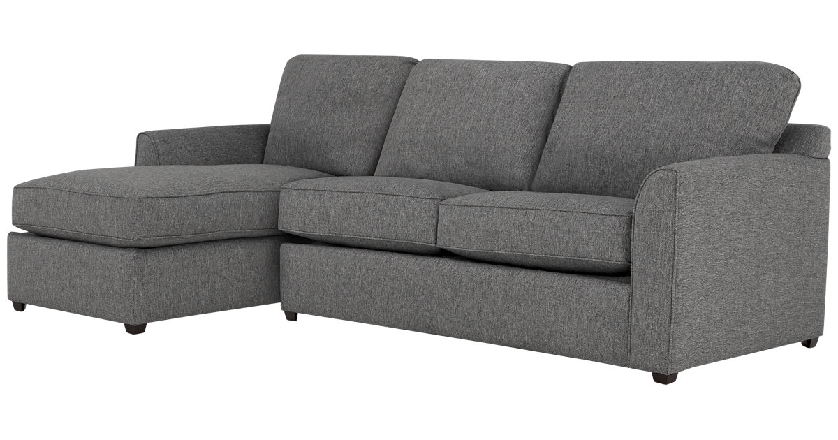 City Furniture Asheville Gray Fabric Left Chaise Sectional