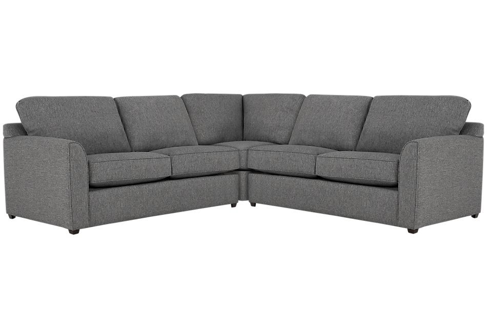 Enjoyable Asheville Gray Fabric Small Two Arm Sectional Living Room Machost Co Dining Chair Design Ideas Machostcouk