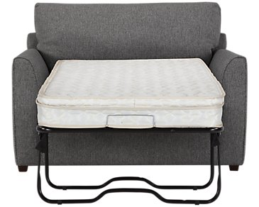 Asheville Gray Fabric Innerspring Sleeper
