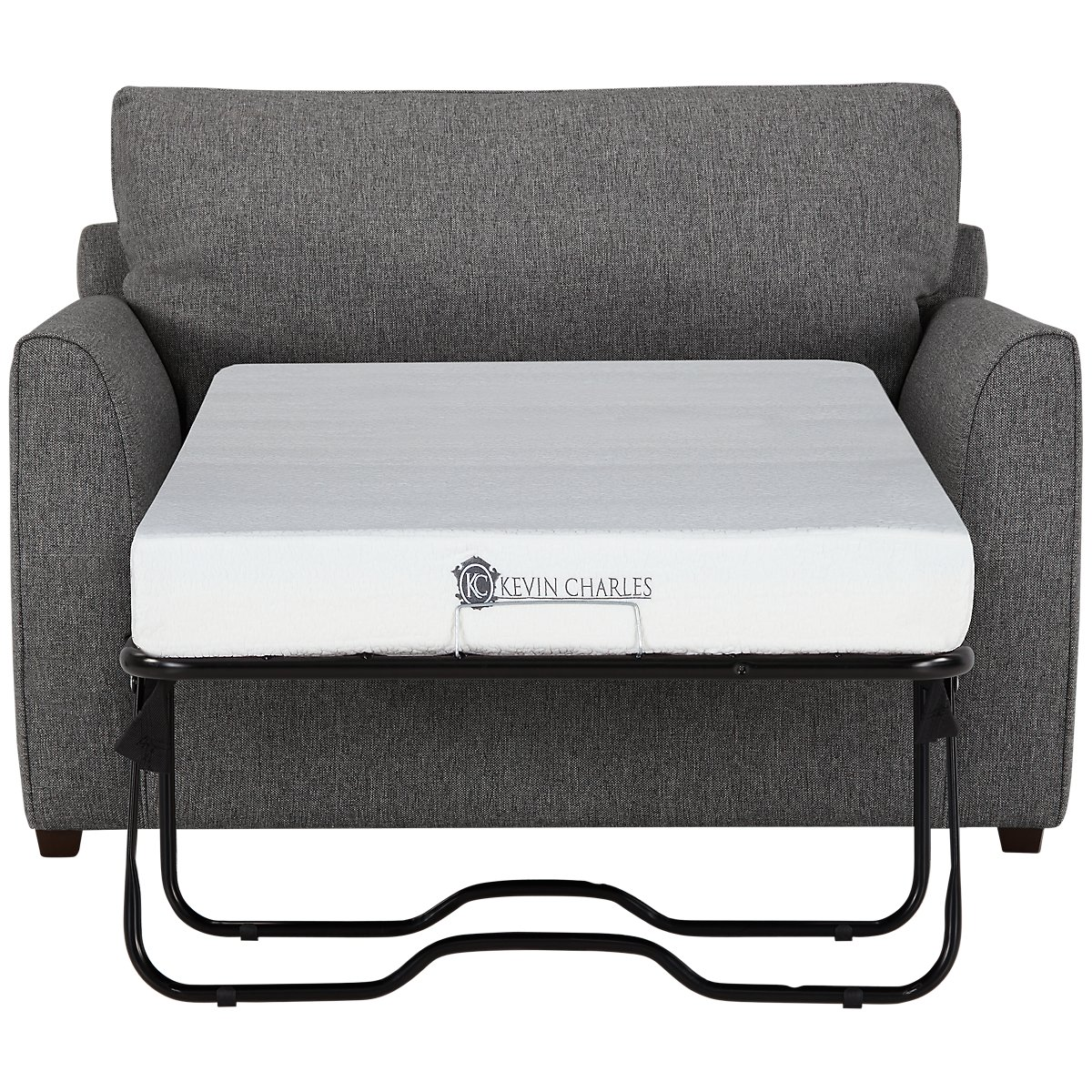 Asheville Gray Fabric Memory Foam Sleeper