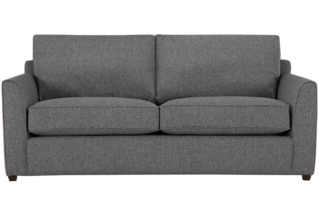 Asheville Gray Fabric Innerspring Sleeper
