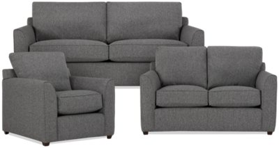 City Furniture Asheville Gray Fabric Living Room