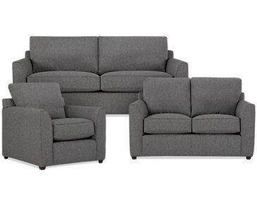 Asheville Gray Fabric Living Room