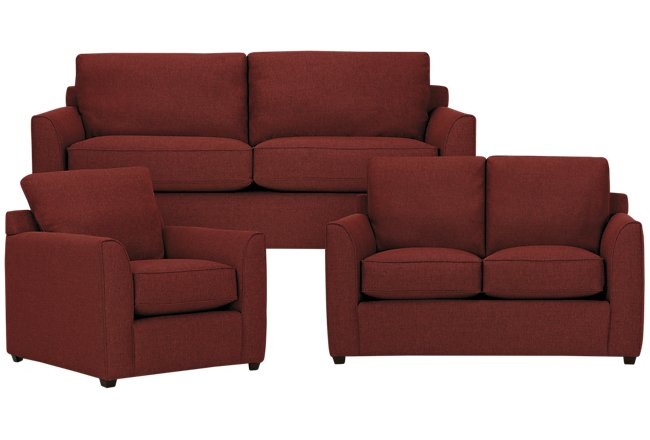 Asheville Red Fabric Living Room