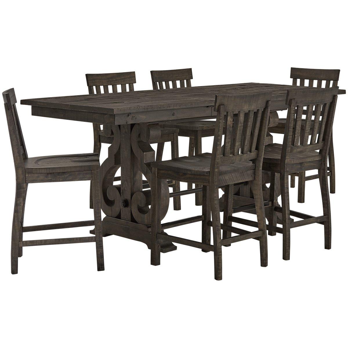 Sonoma Dark Tone High Table & 4 Barstools