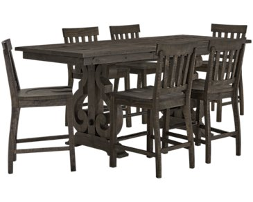Sonoma Dark Tone High Table & 4 Barstools