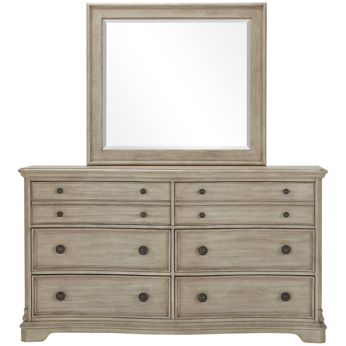 Corinne Light Tone Dresser & Mirror