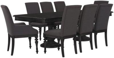 Corinne Dark Tone Rectangular Table & 4 Chairs