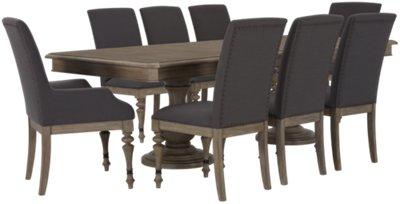 Corinne Light Tone Rectangular Table & 4 Chairs