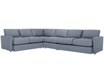 Noah Dark Gray Fabric Large Two-Arm Sectional