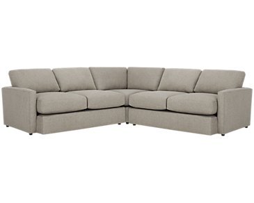 Noah Khaki Fabric Small Two-Arm Sectional