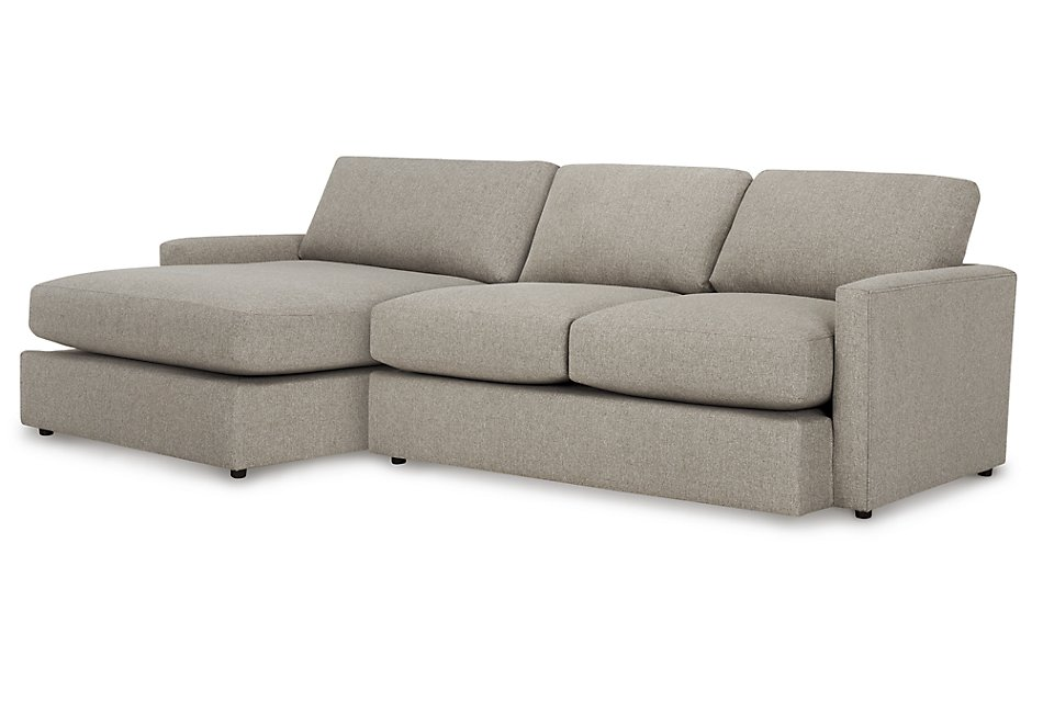 Fine Noah Khaki Fabric Small Left Chaise Sectional Living Room Beatyapartments Chair Design Images Beatyapartmentscom