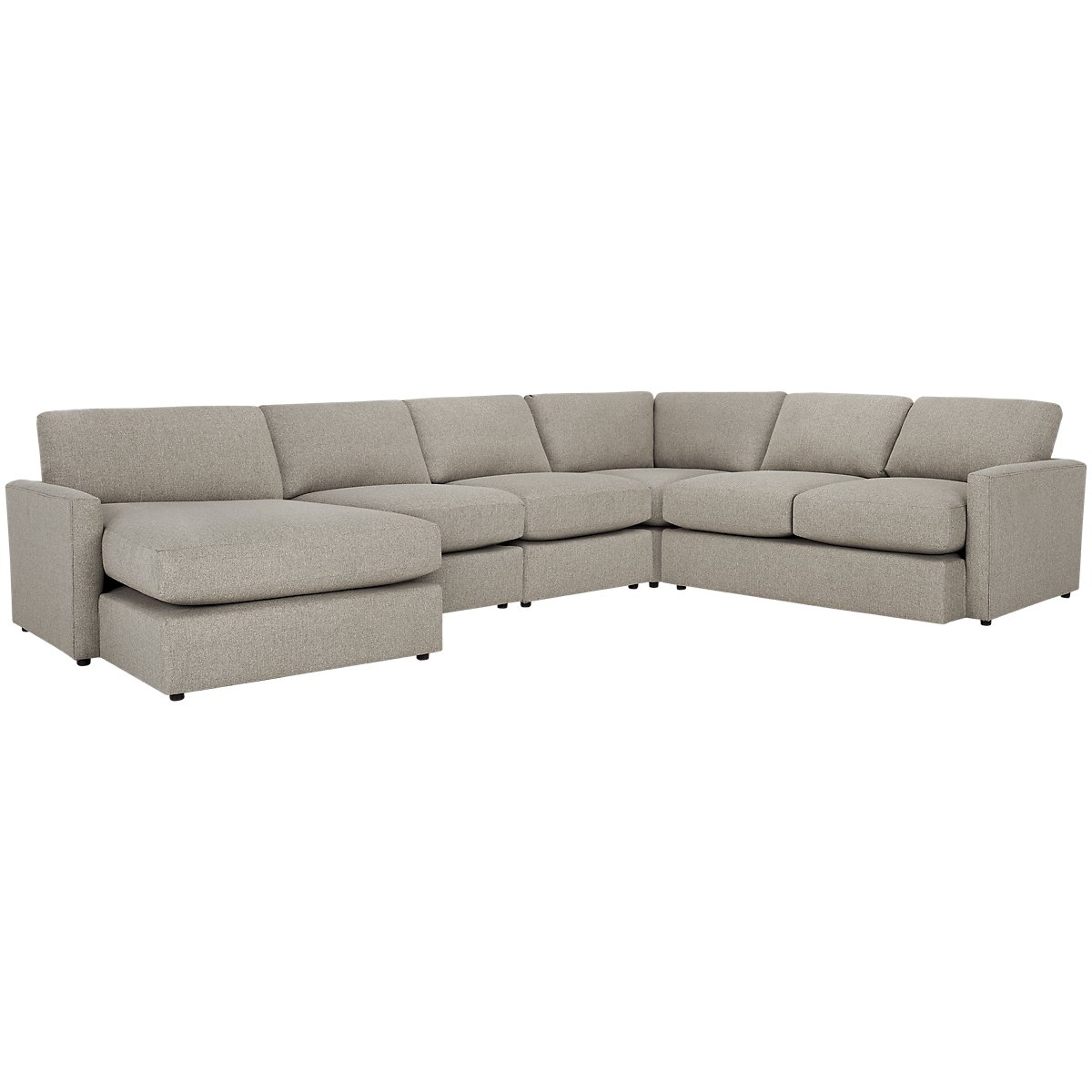 Noah Khaki Fabric Large Left Chaise Sectional