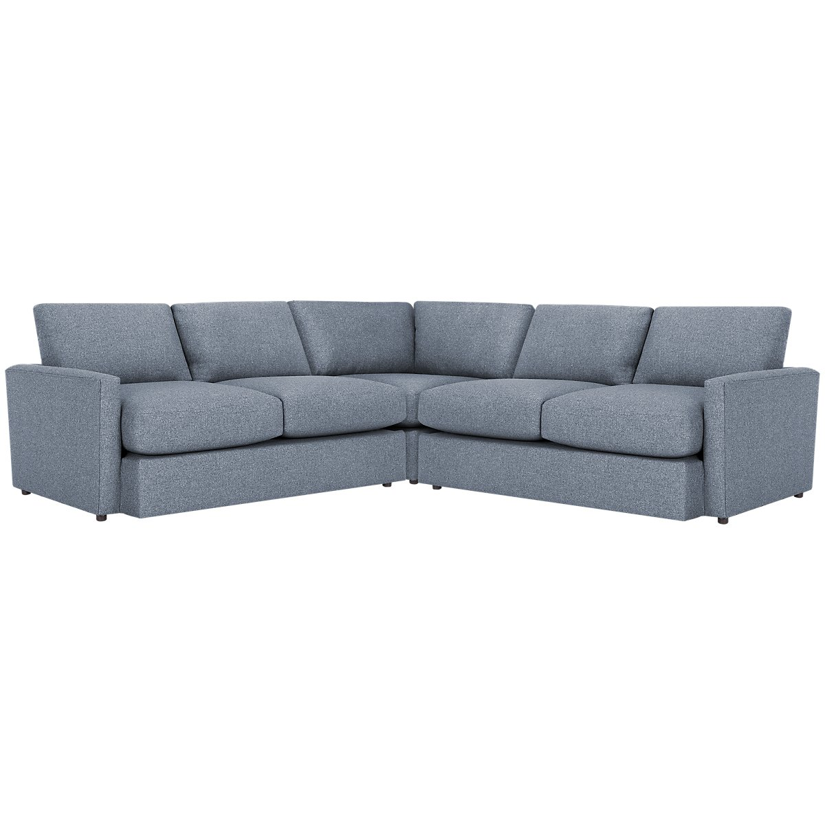 Noah Dark Gray Fabric Small Two-Arm Sectional