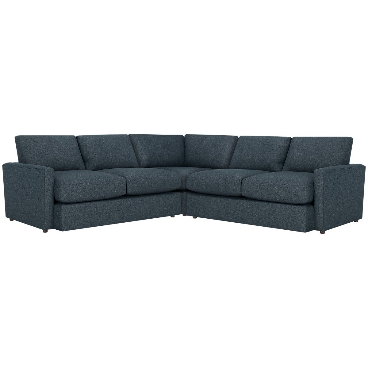 Noah Dark Blue Fabric Small Two-Arm Sectional