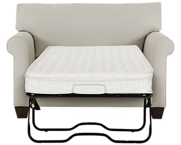 Corlis Light Gray Fabric Innerspring Sleeper