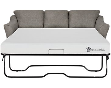 Avery Dark Gray Fabric Memory Foam Sleeper