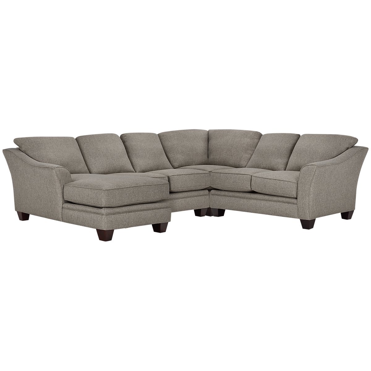 Avery Dark Gray Fabric Medium Left Chaise Sectional