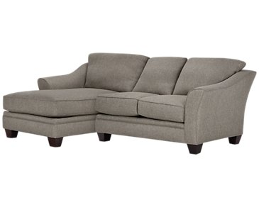 Avery Dark Gray Fabric Left Chaise Sectional