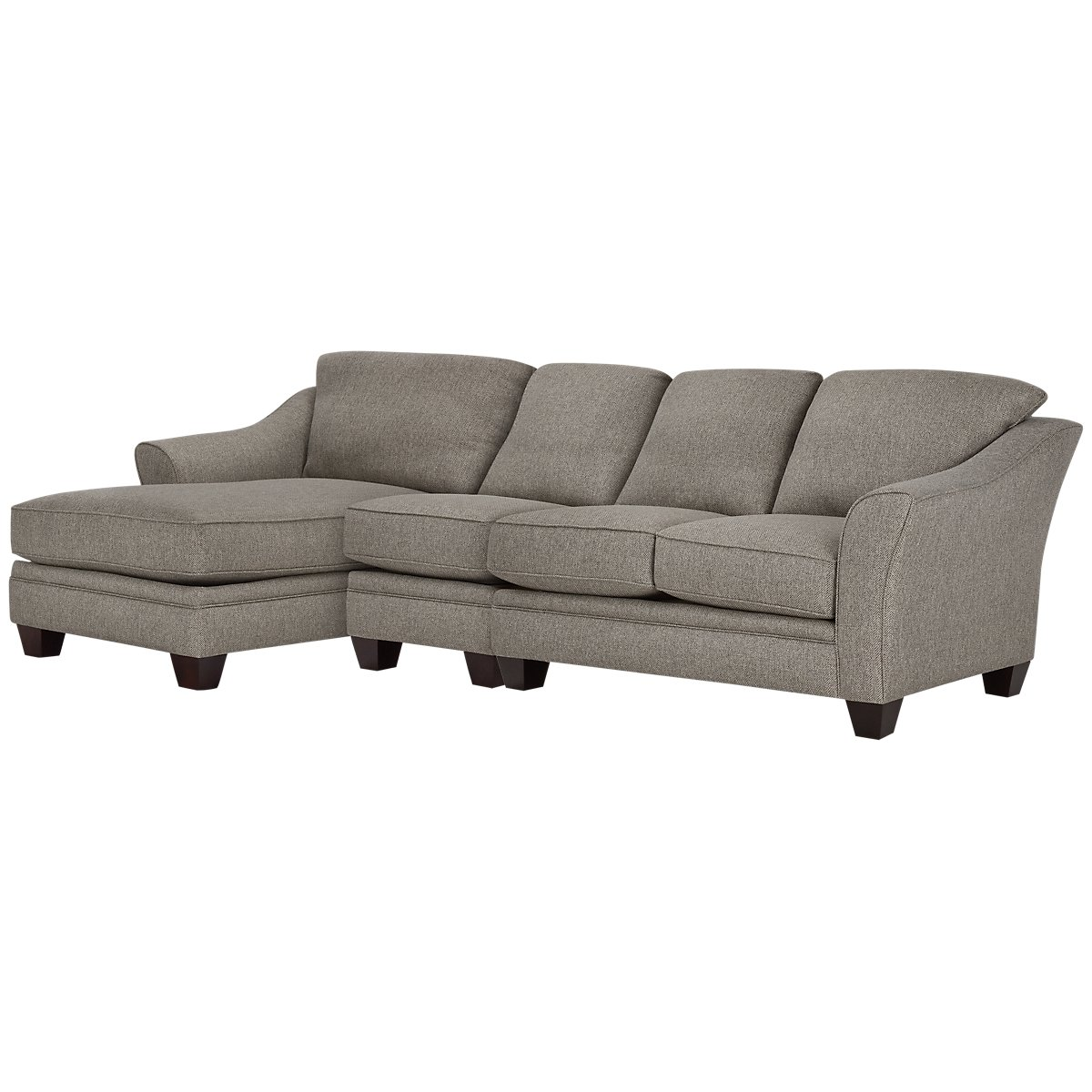 Avery Dark Gray Fabric Small Left Chaise Sectional