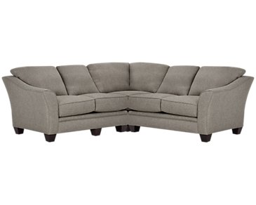 Avery Dark Gray Fabric Small Two-Arm Sectional