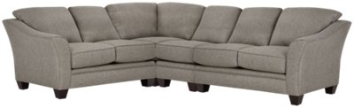 Avery Dark Gray Fabric Large Two-Arm Sectional