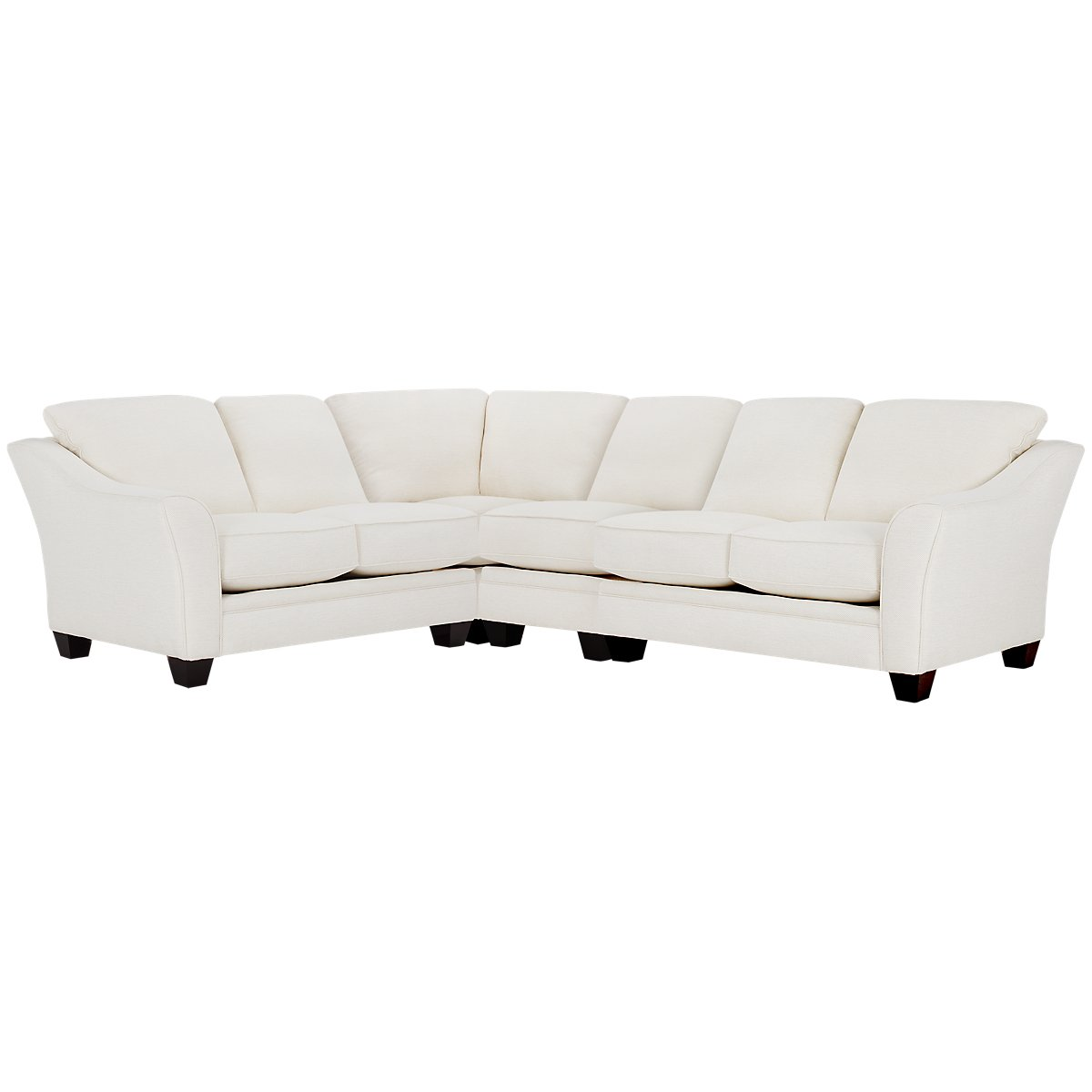 Avery White Fabric Large Two-Arm Sectional