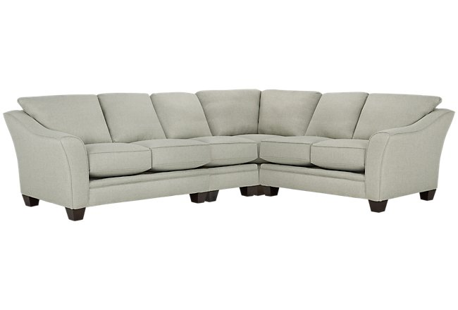 Avery Light Green Fabric Large Two-Arm Sectional