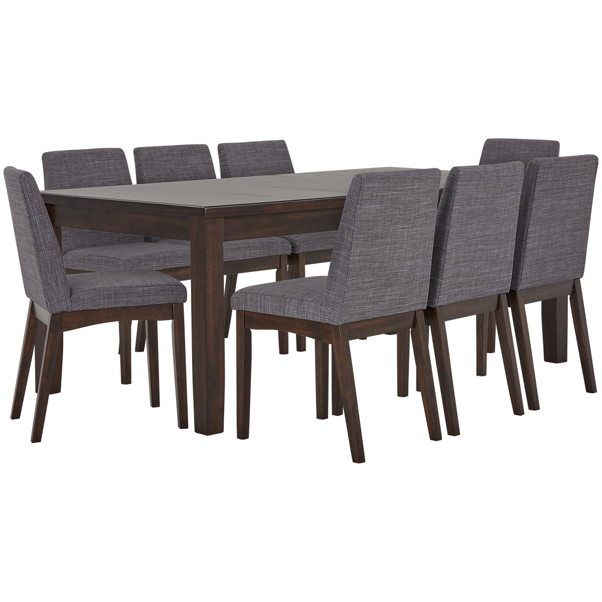 Hayden Dark Gray Wood Table & 4 Upholstered Chairs