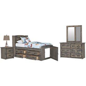 Cinnamon Gray Bookcase Storage Bedroom
