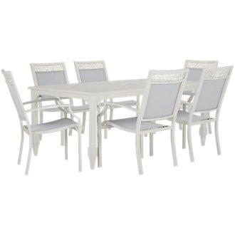 Charleston White Rectangular Table & 4 Sling Chairs