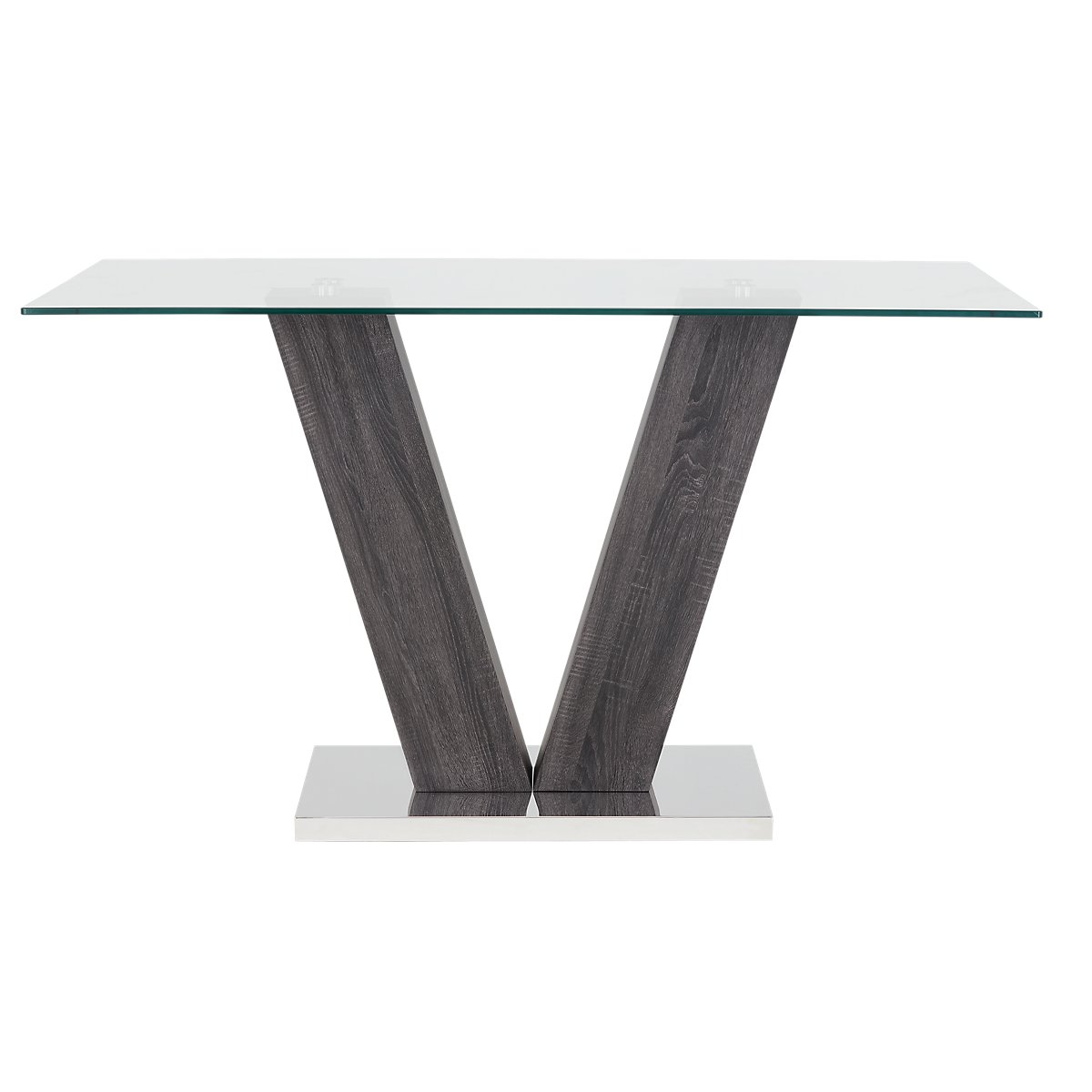 City Furniture Kendall Glass High Dining Table - Kendall coffee table